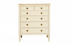Gustavian chest of 2 over 4 drawers